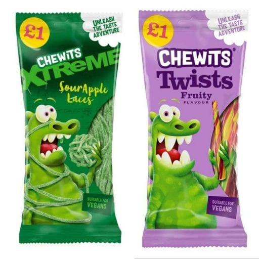 UK chew stick brand just launched vegan Chewits laces range
