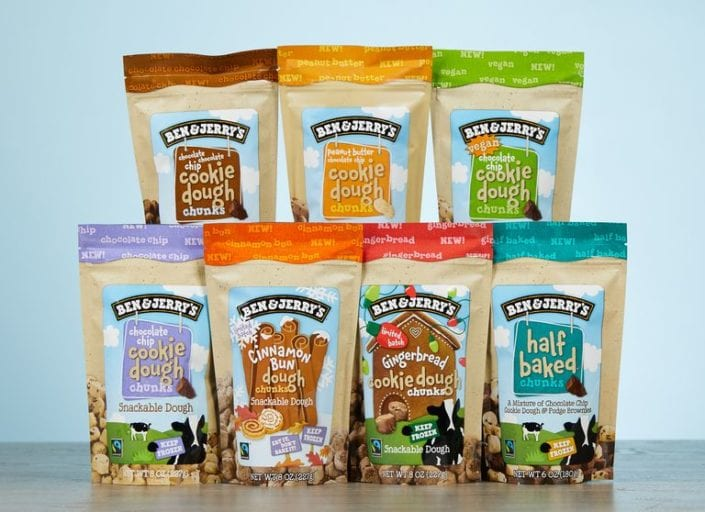 Ben & Jerry's just launched 'Cinn-fully delicious' vegan cinnamon bun cookie dough bites