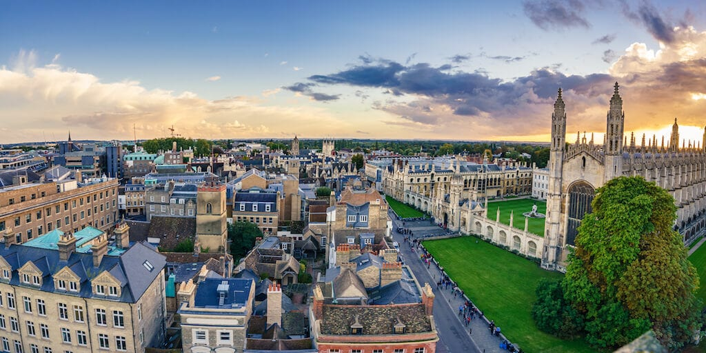 Cambridge top 10 vegan-friendly cities