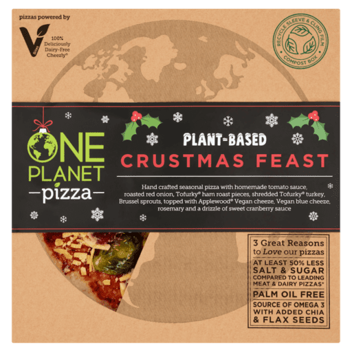 Christmas vegan pizza launches One Planet Pizza