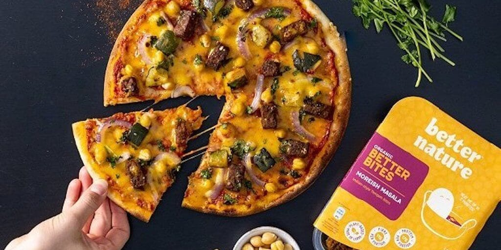One Planet Pizza and Better Nature team up to launch 'world's first frozen tempeh pizza'