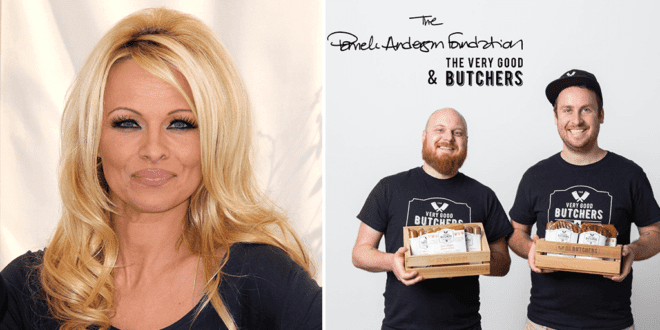 Pamela Anderson and Canadian vegan butcher shop team up to promote animal rights