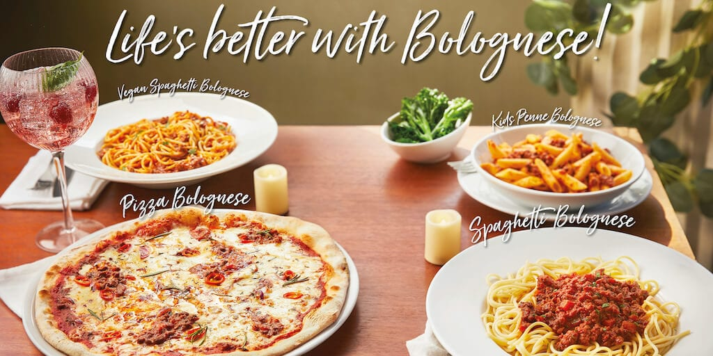 Prezzo adds Vegan Bolognese Pizza to its autumn menu