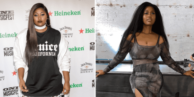 R&B singer Jazmine Sullivan tells fans 'being skinny was never my goal' after losing 50lbs on vegan diet