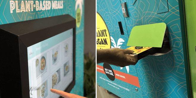 UK's first vegan hot meal vending machine for NHS staff arrives at London Hospital