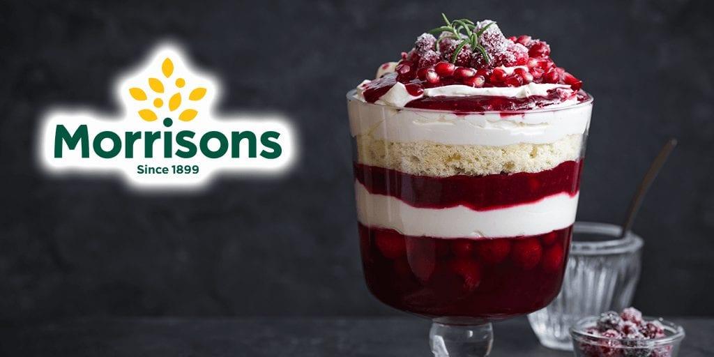 UK's first vegan trifle launching at Morrisons alongside a new vegan meat range