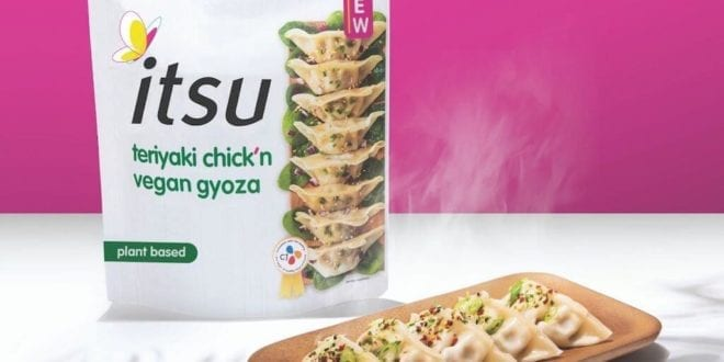 itsu launches UK's first frozen 'vegan meat' gyoza