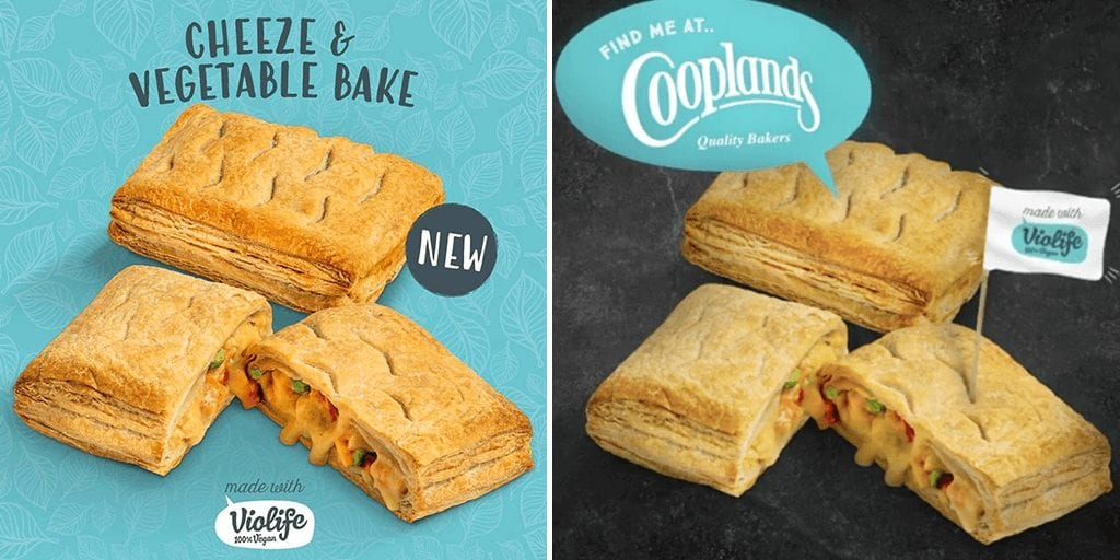 Vegan cheeze bake and spicy empanadas launch at Cooplands bakery