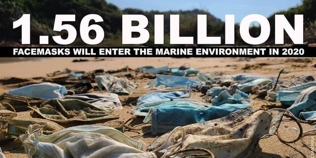 More than 1.5 billion face masks believed to have flooded the oceans in 2020