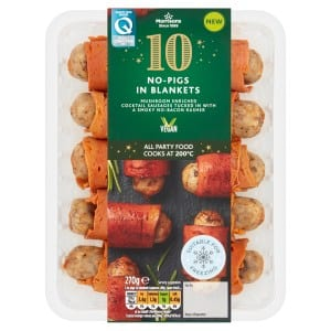 Morrisons' new vegan party food range including no-pigs, no-duck and no-prawns tempura roll out in the stores across UK