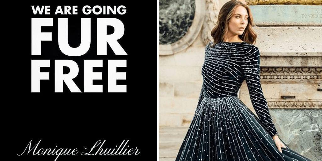 Monique Lhuillier Bans Fur to prove 'future of fashion is vegan'