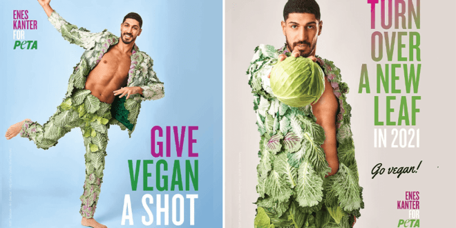 NBA star Enes Kanter urges people to give 'vegan a shot' in new PETA ad