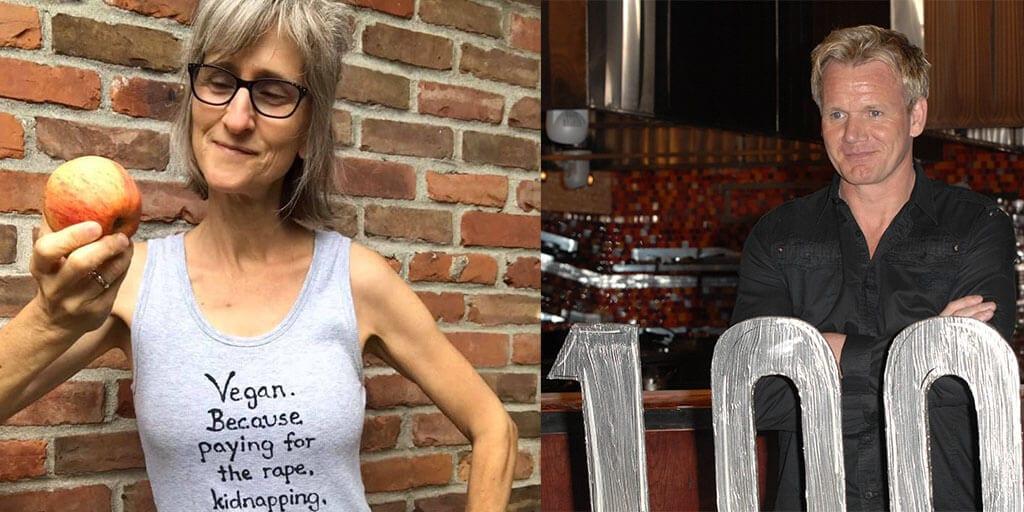 Vegan TikToker roasts Gordon Ramsay for eating meat & he mocks her in response
