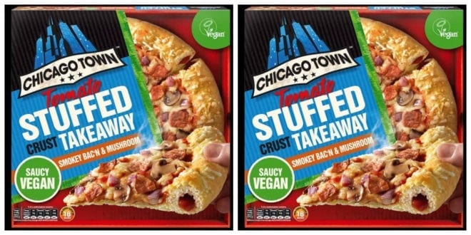 Chicago Town Launches New Smokey Bac'n & Mushroom vegan pizza