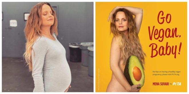 Mena Suvari advocates vegan pregnancy in new PETA ad