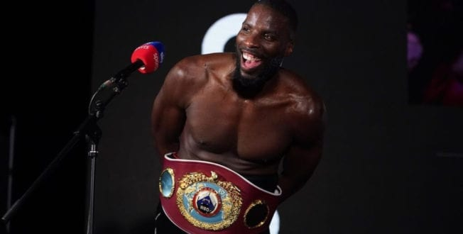 Boxer Lawrence Okolie becomes first vegan to win WBO world cruiserweight title