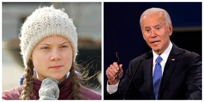 Greta Thunberg says Biden should 'treat climate crisis like a crisis'