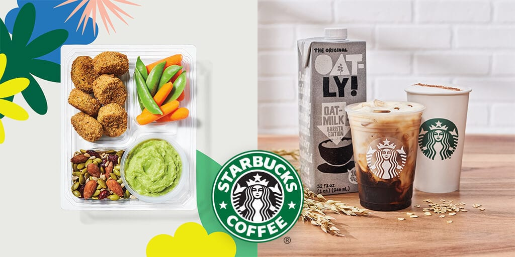 Starbucks adds dairy-free drinks, plant protein meal box, and oat milk to spring 2021 menu