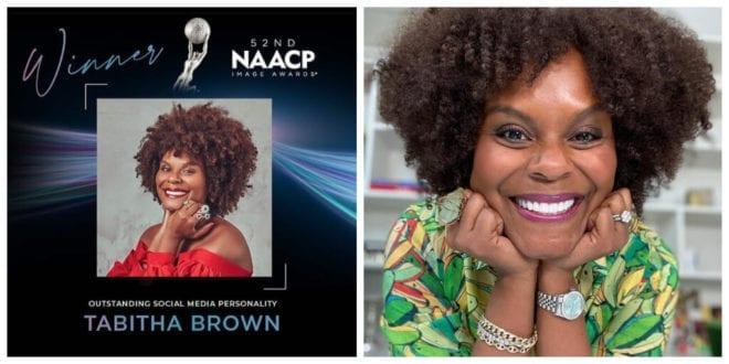 Vegan TikTok star Tabitha Brown wins major media award