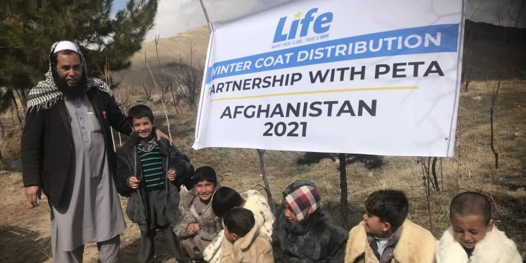 Charity donates over 150 unwanted fur coats to Afghan orphans and widows
