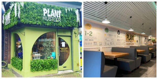 Crackdown on vegan café for painting interiors with pro-vegan infographics.