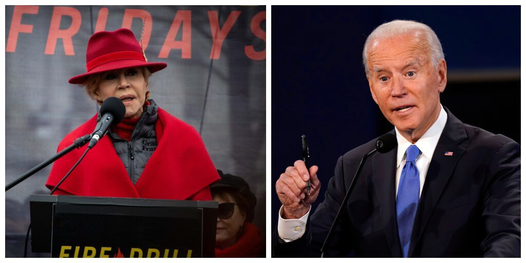 Jane Fonda blasts Biden for failing to take 'bold or fast' action on climate crisis