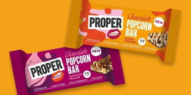 UK snack brand launches gluten-free vegan popcorn bars that 'deliver on both health and taste'