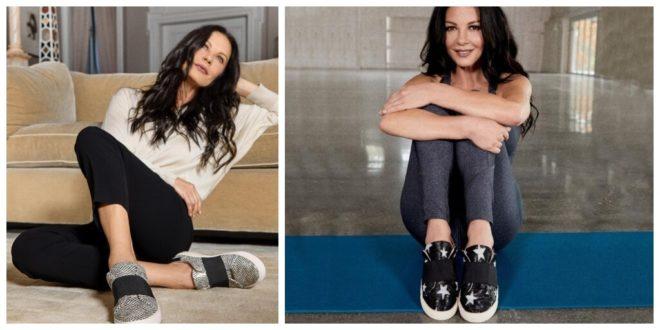 Catherine Zeta-Jones launches vegan sneakers with British footwear brand